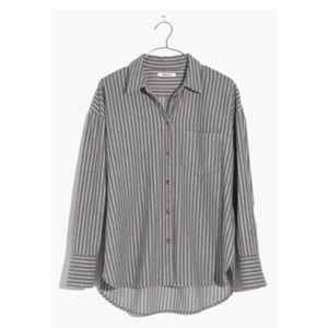Like New Madewell Gray Striped Flannel